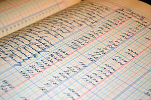 open accounting ledger book
