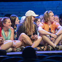 Encounter campers on stage
