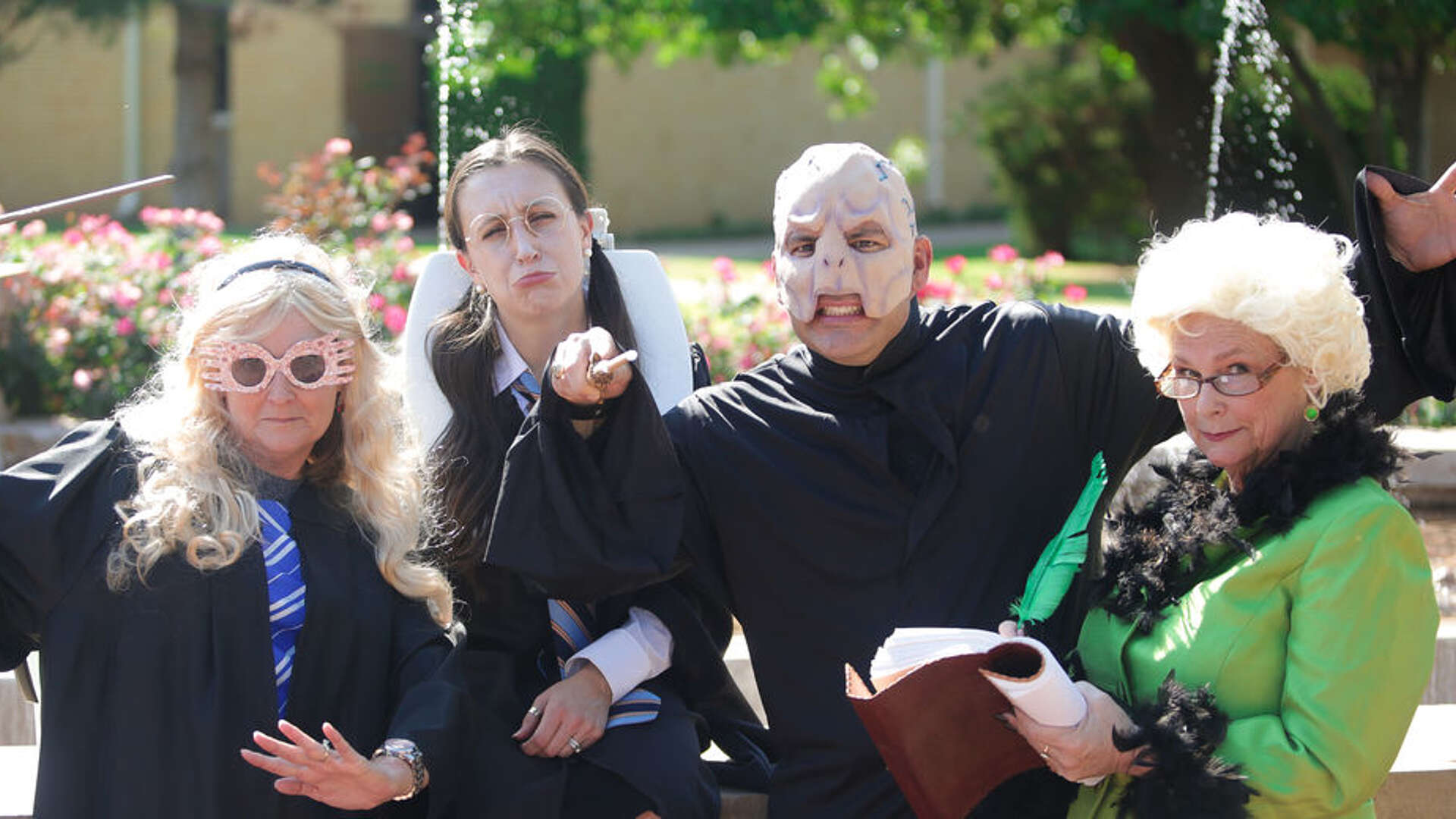 Some LCU faculty and staff in Harry Potter costumes