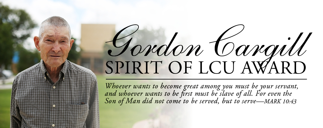 Gordon Cargill Spirit of LCU Award header