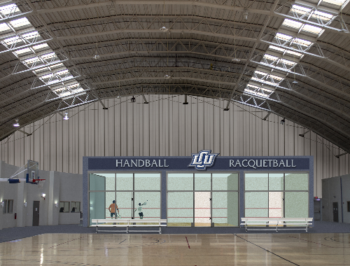 architect rendering of handball and racquetball facilities