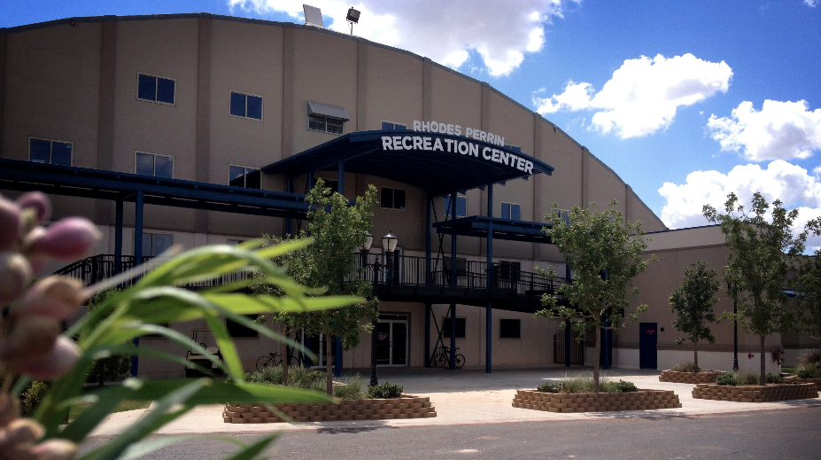 photo of the exterior of the Rhodes Perrin Recreation Center