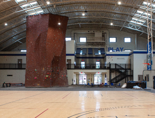rockwall in the Rec center