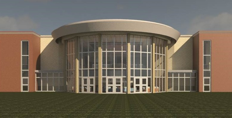 Architect Rendering of the Christian Development Center Renovations, Front