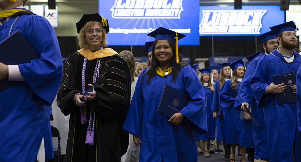 LCU Graduates celebrate at the end of the commencement ceremony